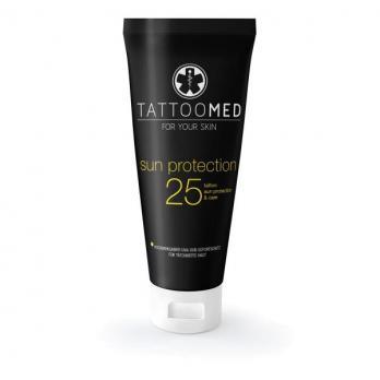 Слънцезащитен крем за татуирана кожа TATTOOMED SPF 25+, 100 мл.