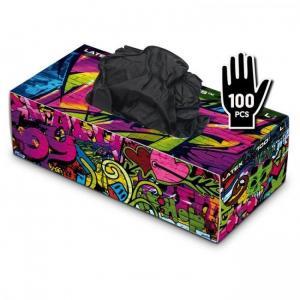 Graffiti Gloves - Latex - Black - кутия 100 броя